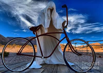 Photograph - Rhyolite Ghost Biker by Adam Jewell