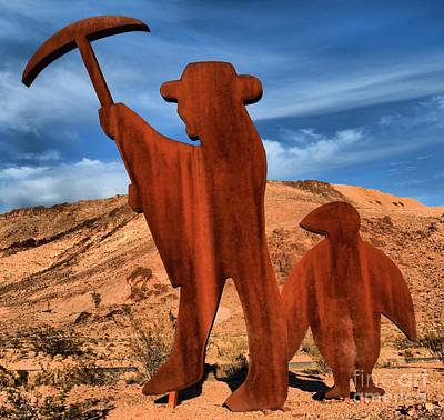Miners Ghost Photograph - Rhyolite Miners by Adam Jewell
