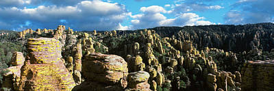 Clouds Over Canyon Photograph - Rhyolite Sculptures Along The Echo by Panoramic Images