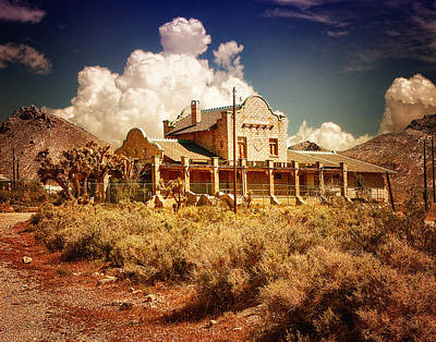 Photograph - Rhyolite Station by Steve Benefiel