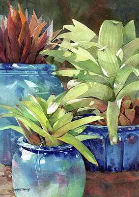 Garden Painting - Rhythm And Blues by Kris Parins