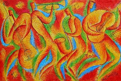 Jazz Painting - Rhythm And Blues by Leon Zernitsky