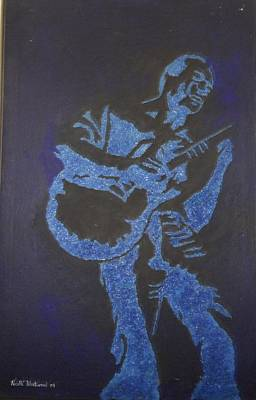 Black Man Playing Guitar Painting - Rhythm And Blues by Nicolle Blackwood