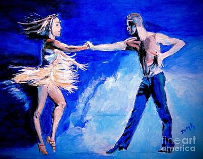Ballroom Dancing Painting - Rhythm Is Going To Get You 2 by Judy Kay