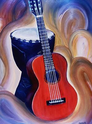 Jibaros Painting - Rhythm by Janice Aponte