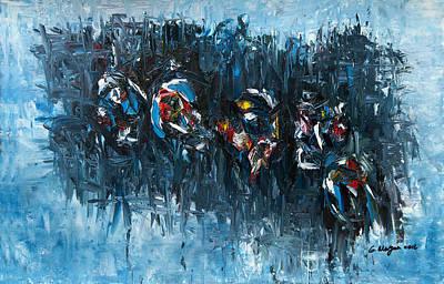 Jamaican Painting - Rhythmic Energy by Garfield Morgan