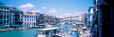 Rialto And Grand Canal Venice Italy Art Print by Panoramic Images