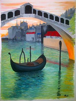 Malbec Drawing - Rialto by Andrew Cravello