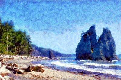 Digital Art - Rialto Beach by Kaylee Mason