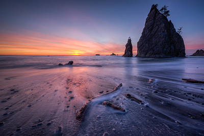 Beach Photograph - Rialto Beach Sunset by Dan Mihai