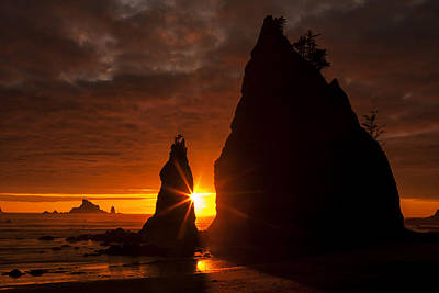 Photograph - Rialto Beach Sunset Percusion by Mark Kiver