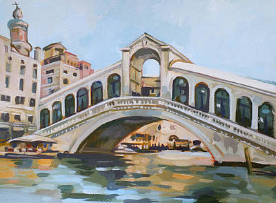 Architectural Mixed Media - Rialto Bridge by Filip Mihail