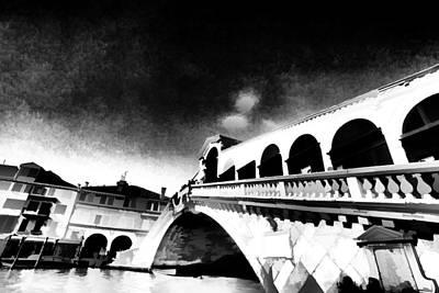 Photograph - Rialto Bridge Venice Italy by Indiana Zuckerman