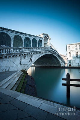 Ponte Rialto Photograph - Rialto Bridge Venice Italy by Matteo Colombo