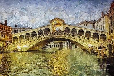 Grande Painting - Rialto by Mo T