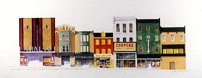 Art Print featuring the painting Rialto Theater by William Renzulli