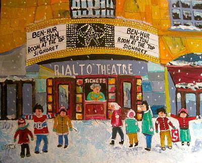Steinberg Bag Painting - Rialto Theatre 1960 by Michael Litvack