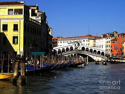 Photograph - Rialto Venice by Theresa Ramos-DuVon