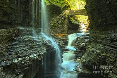 Rainbow Falls Watkins Glen Print by Adam Jewell