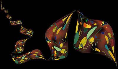 Ribbon Bubbles Art Print