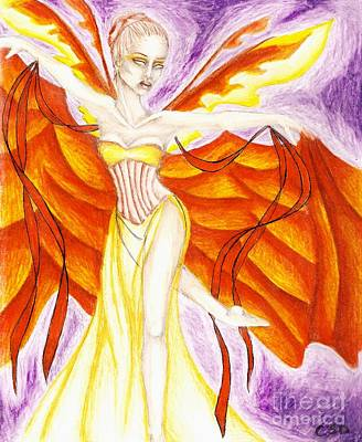 Wiccan Drawing - Ribbon Dancer by Coriander  Shea