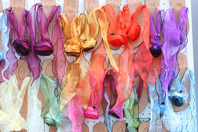 Ribboned Sandals Art Print by Holly C. Freeman