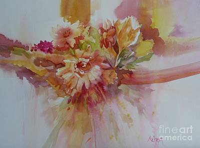 Painting - Ribbons And Flowers by Donna Acheson-Juillet