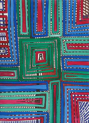 Painting - Ribbons Aye by Barbara St Jean