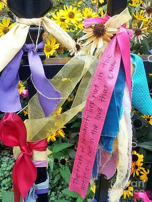Ribbons Of Grief Art Print