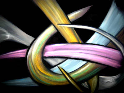 Ribbons Art Print by William  Paul Marlette