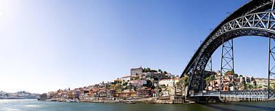 Arch Photograph - Ribeira Quarter And Dom Luis Bridge In Porto by Jose Elias - Sofia Pereira