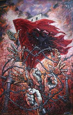 Ribellion On Infern Art Print by Lazar Taci