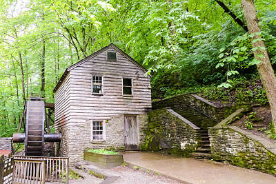 Rice Grist Mill Norris Dam State Park Tennessee Art Print by Cynthia Woods