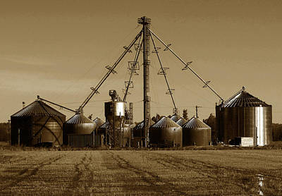 Photograph - Rice Silos 3 by Robert Woodward