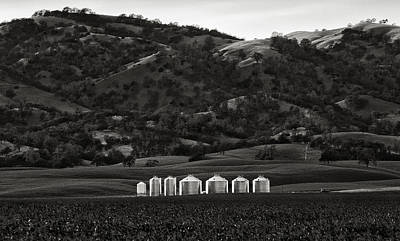 Photograph - Rice Silos In The Hills Near Dunnigan California by Robert Woodward