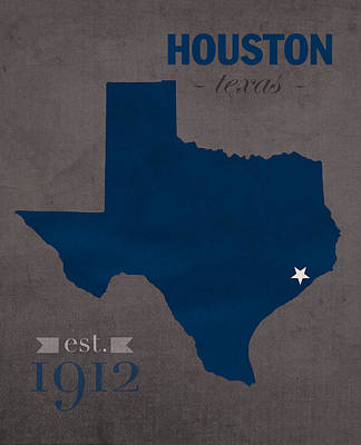 Owl Mixed Media - Rice University Owls Houston Texas College Town State Map Poster Series No 091 by Design Turnpike