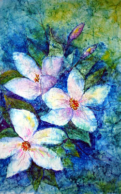Painting - Ricepaper Blooms by Patricia Beebe