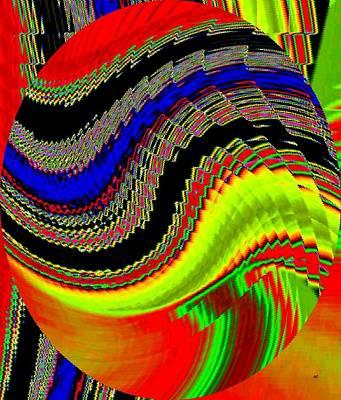 Digital Art - Rich Color Ripple by Will Borden