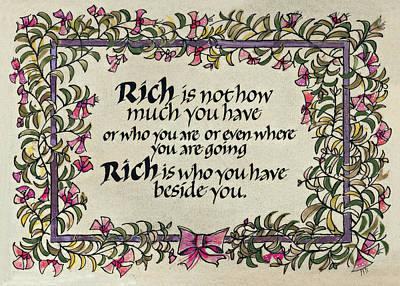Rich Art Print by Dave Wood