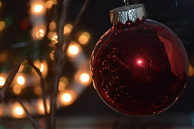 Photograph - Rich Garnet Christmas Bulb by Michelle Hoffmann