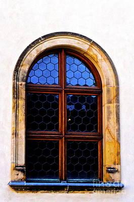 Prague Castle Digital Art - Neon Window by Brad Gravelle