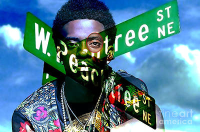 Celebrities Mixed Media - Rich Homie Quan Painting by Marvin Blaine