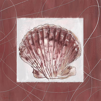 Painting - Rich Sophistication- Marsala Pantone 18-1438 by Lourry Legarde