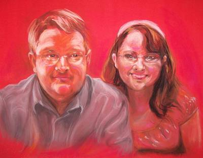 Pastel - Richard And Lori by Martha Suhocke