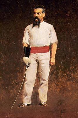 Fencing Painting - Richard Burton (1821-1890) by Granger