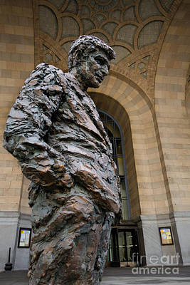 Richard Caliguiri Statue Pittsburgh Art Print by Amy Cicconi