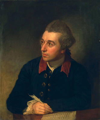 Contemplative Painting - Richard Cumberland, C.1771 by George Romney