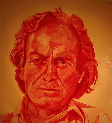 Feynman Painting - Richard Feynman by Roger Medcalf