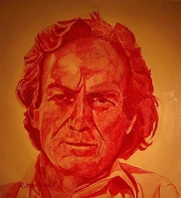 Richard Feynman Art Print by Roger Medcalf