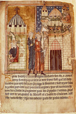 Dungeon Photograph - Richard I Imprisoned And Ransomed by British Library